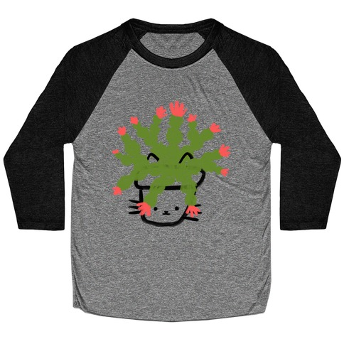 Christmas Cactus Cat Baseball Tee