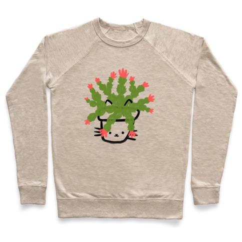Christmas Cactus Cat Pullover