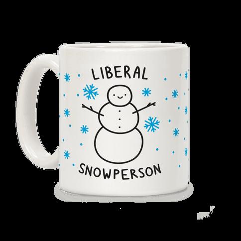 Liberal Snowperson Coffee Mug