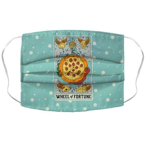 Wheel Of Fortune Pizza Accordion Face Mask