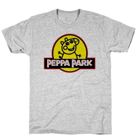 Peppa Park Jurassic Logo Parody T-Shirt