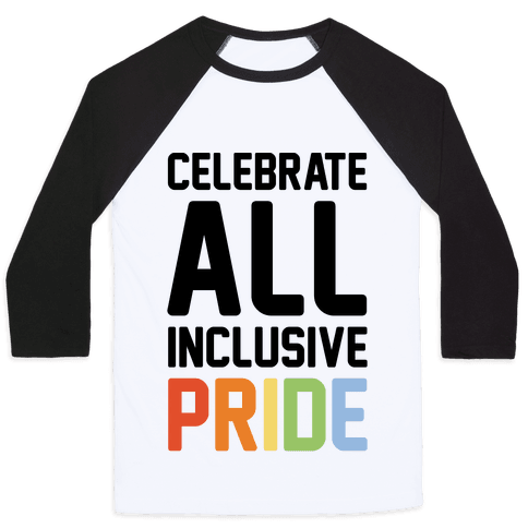 Celebrate All Inclusive Pride Baseball Tee