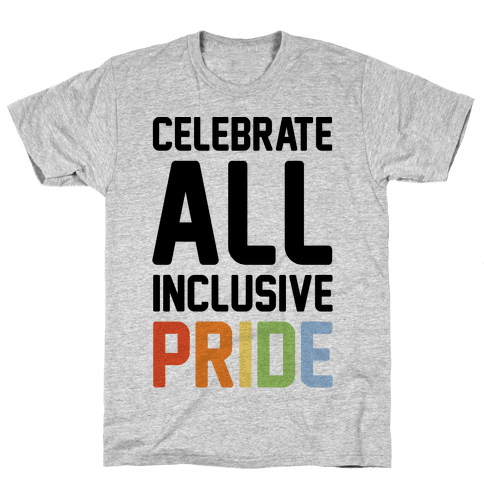 Celebrate All Inclusive Pride Mens T-Shirt
