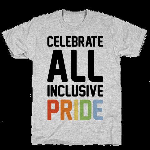 Celebrate All Inclusive Pride Mens T-Shirt