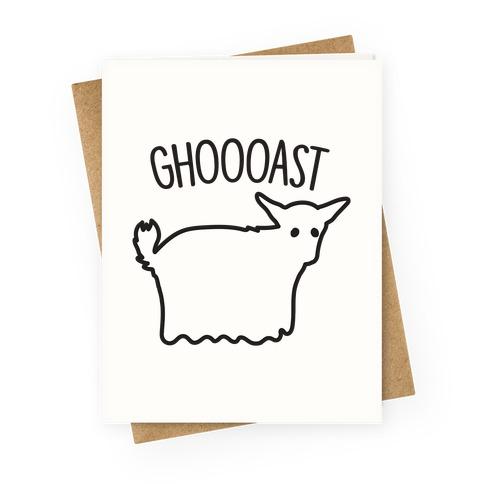 Ghoast Goat Ghost Greeting Card