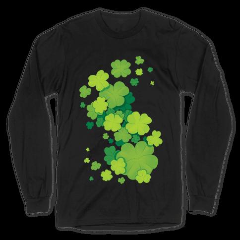 Clover Patch Pattern Long Sleeve T-Shirt