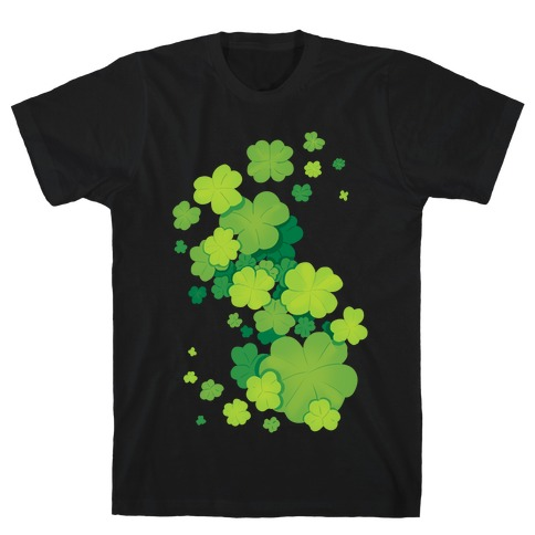 Clover Patch Pattern T-Shirt
