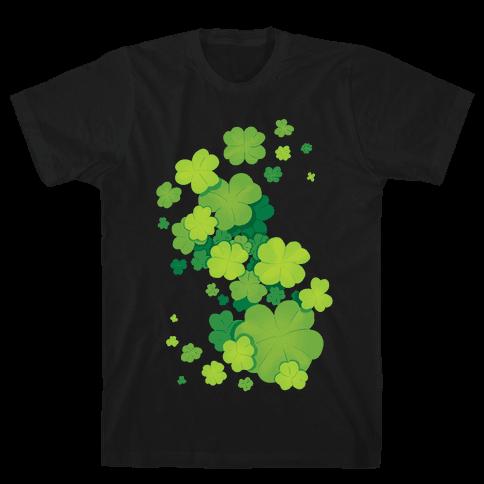 Clover Patch Pattern Mens/Unisex T-Shirt
