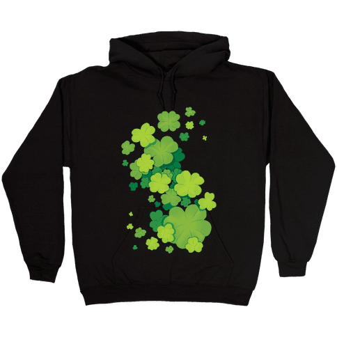 Clover Patch Pattern Hooded Sweatshirt