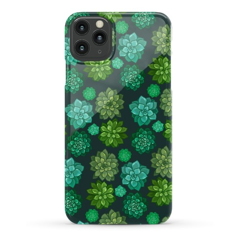 Green Succulent Pattern Phone Case