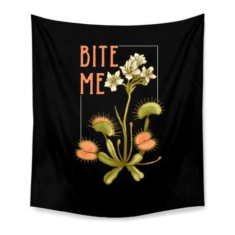 Bite Me Venus Flytrap Tapestry