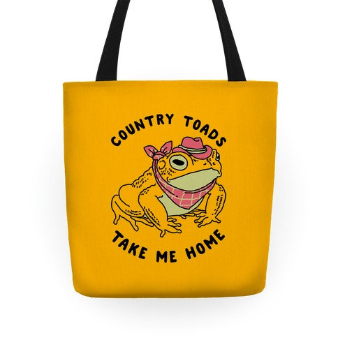 Country Toads Take Me Home Tote