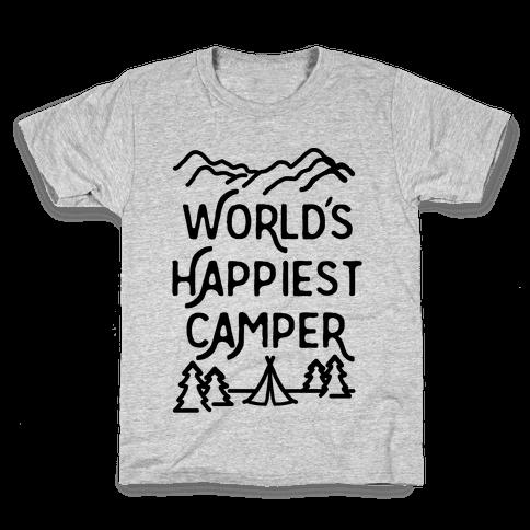 World's Happiest Camper Kids T-Shirt