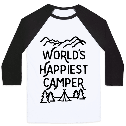 World's Happiest Camper Baseball Tee