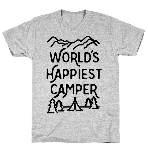World's Happiest Camper Mens T-Shirt