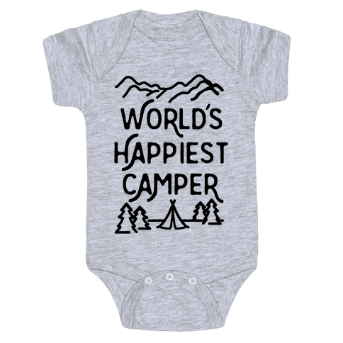 World's Happiest Camper Baby Onesy