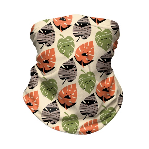 Classic Monstera Monsters Neck Gaiter