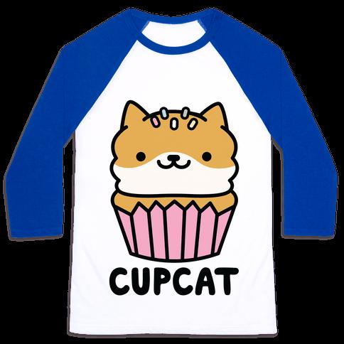 Cupcat Baseball Tee