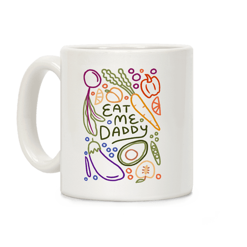 Eat Me Daddy Garden Pattern Coffee Mug