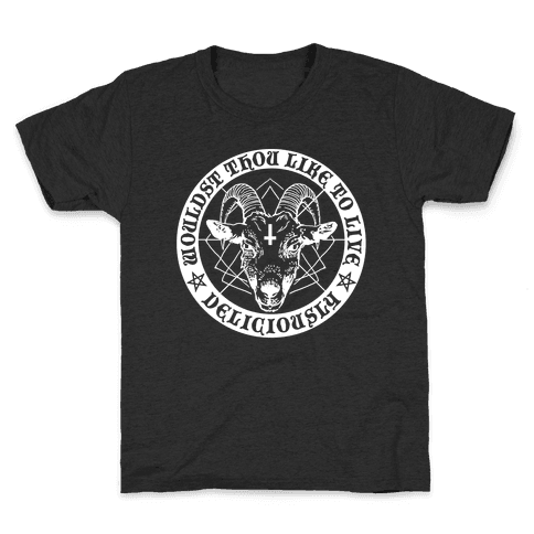 Black Philip: Wouldst Thou Like To Live Deliciously Kids T-Shirt