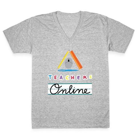 TOL: Teachers Online V-Neck Tee Shirt