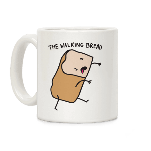 The Walking Bread Parody Coffee Mug