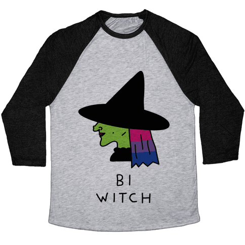 Bi Witch Baseball Tee