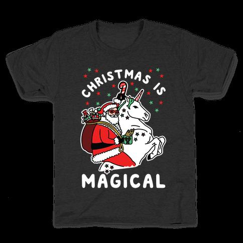 Christmas Is Magical White Kids T-Shirt