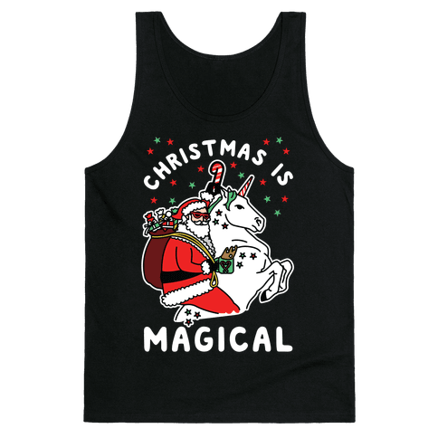 Christmas Is Magical White Tank Top