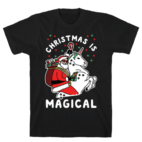 Christmas Is Magical White Mens T-Shirt
