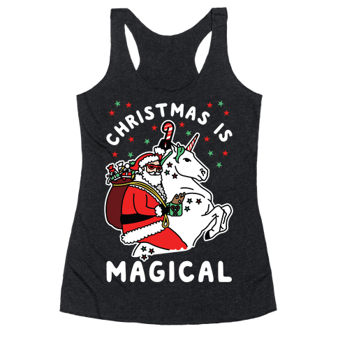 Christmas Is Magical White Racerback Tank Top