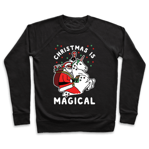 Christmas Is Magical White Pullover