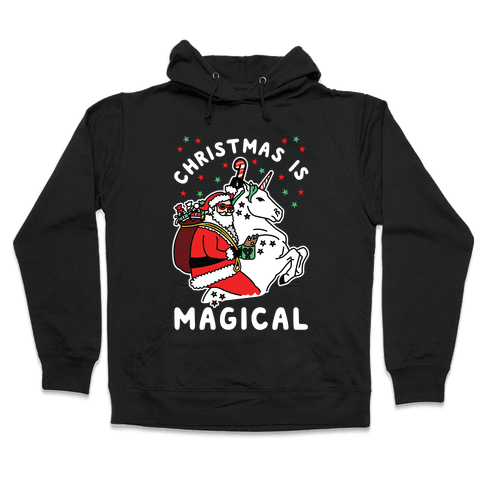 Christmas Is Magical White Hooded Sweatshirt
