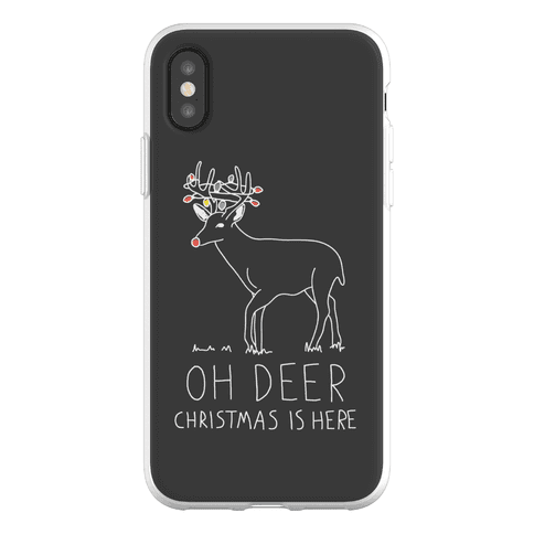 Oh Deer Christmas Is Here Phone Flexi-Case