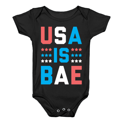 USA is BAE (White) Baby Onesy