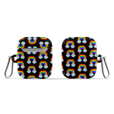 Gaymers Play With Pride Pixel Rainbow  AirPod Case