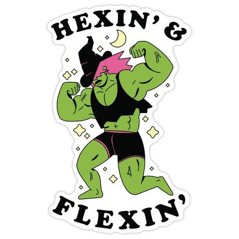 Hexing & Flexing Die Cut Sticker