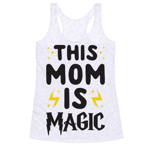 This Mom Is Magic Racerback Tank Top