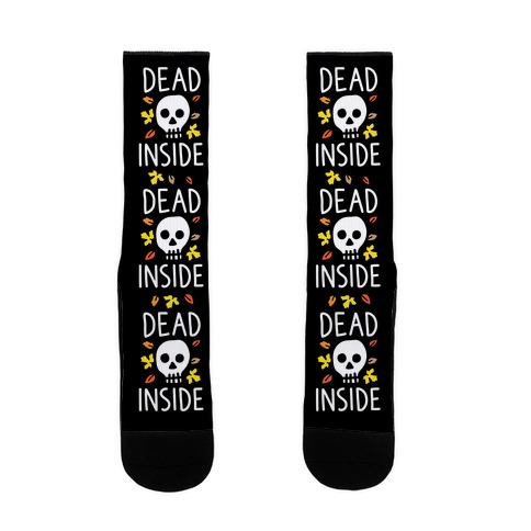 Dead Inside Autumn Skull Sock