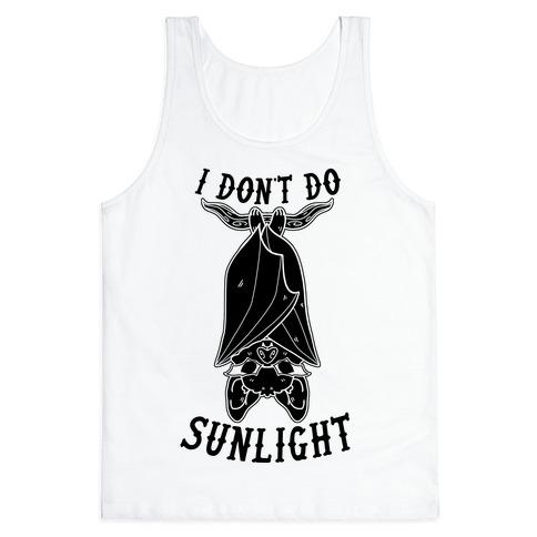 I Don't Do Sunlight Bat Tank Top