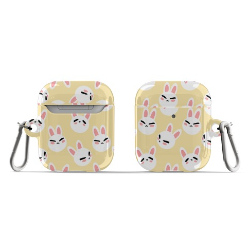 BunBun Pattern Yellow AirPod Case