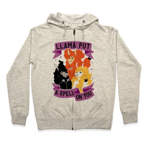 Llama Put A Spell On You Zip Hoodie