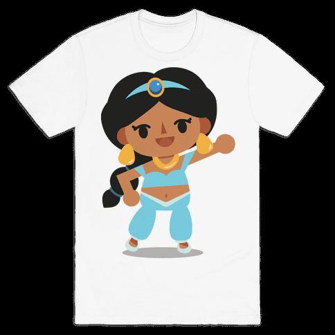 Princess Crossing Jasmine Parody Blue Mens/Unisex T-Shirt