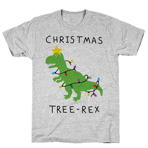 Christmas Tree Rex Mens T-Shirt