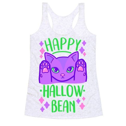 Happy Hallow-Bean Racerback Tank Top
