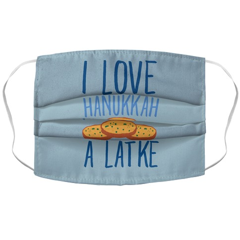 I Love Hanukkah A Latke Parody Accordion Face Mask