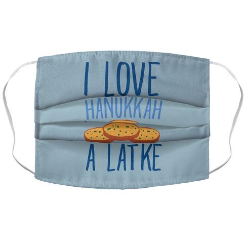 I Love Hanukkah A Latke Parody Accordion Face Mask