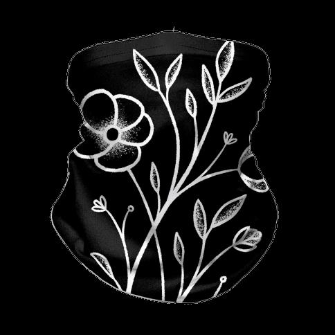 Wildflower Stippled Tattoo Neck Gaiter