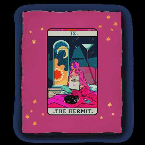 Hermit Tarot Card Blanket