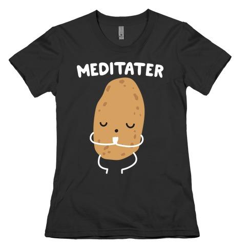 Meditater Meditating Potato Womens T-Shirt
